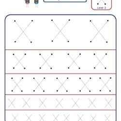 How to master Letter X with letter tracing worksheet in multiple sizes