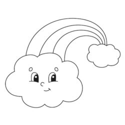 Fun Clouds Coloring Page