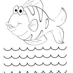 Smiling Fish Coloring Page