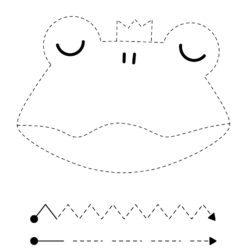 Letter F trace and color Frog worksheet